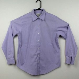 Brooks Brothers 346 Button Down Shirt Purple